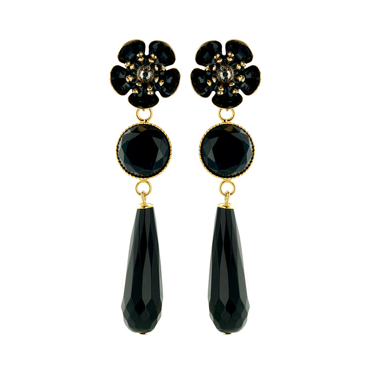 Gina timeless black earring