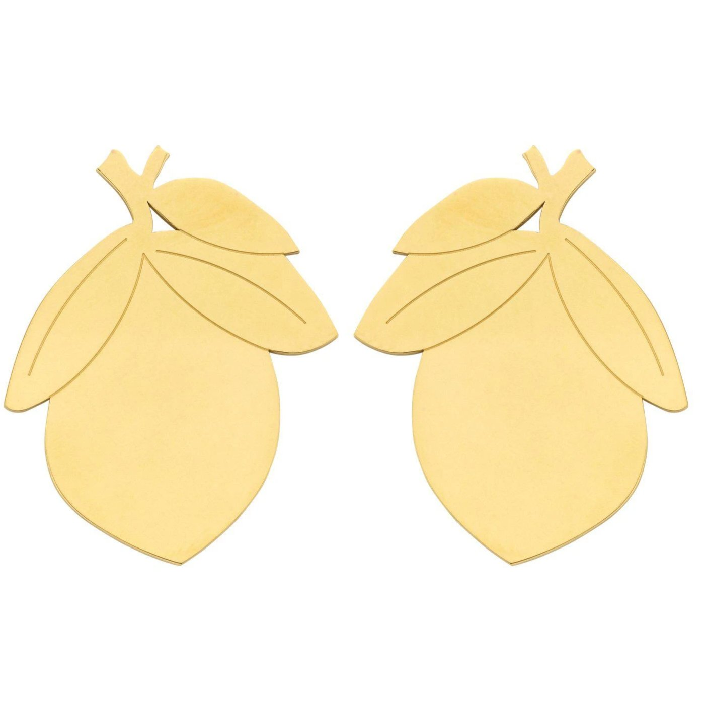 Mini Lemon shortie earring gold-oorbellen-Souvenirs de Pomme