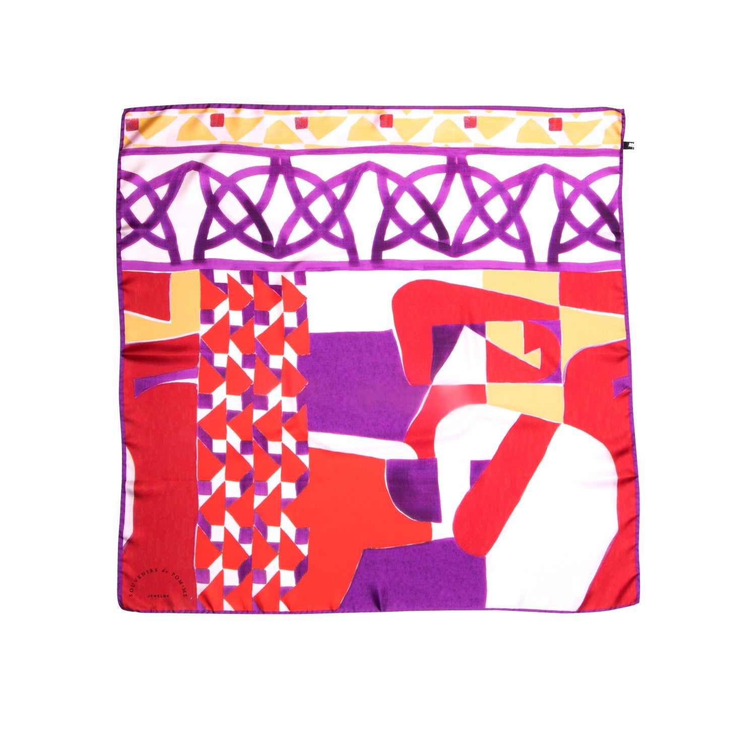 Twill tile purple-red foulard