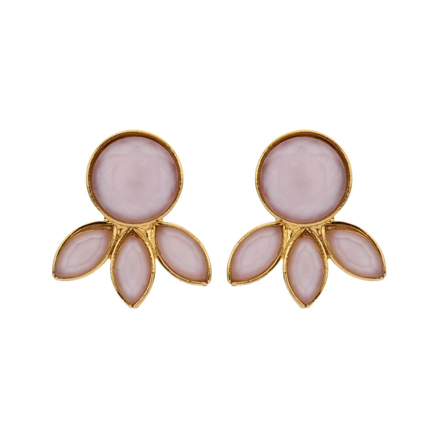 Palm Navet nude earrings
