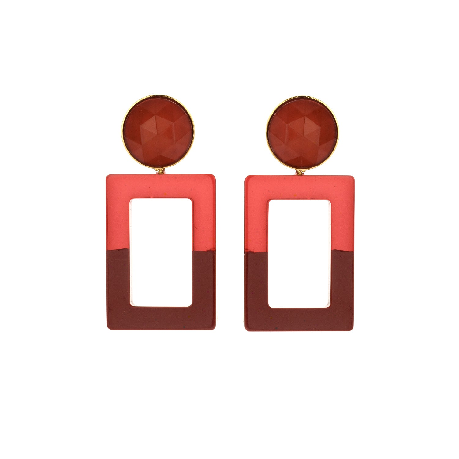 Mary small duo marsala earring