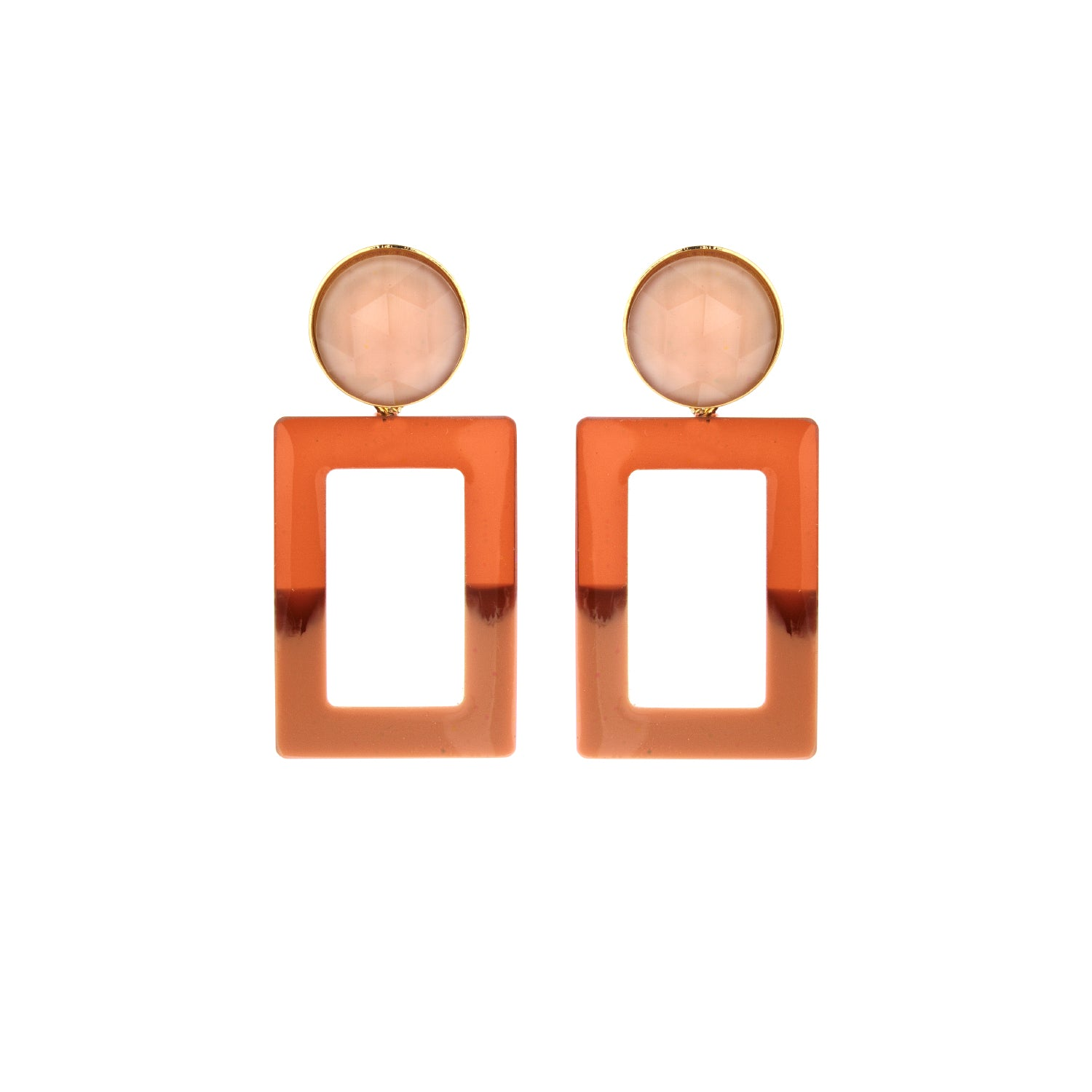 Mary small duo camel earring