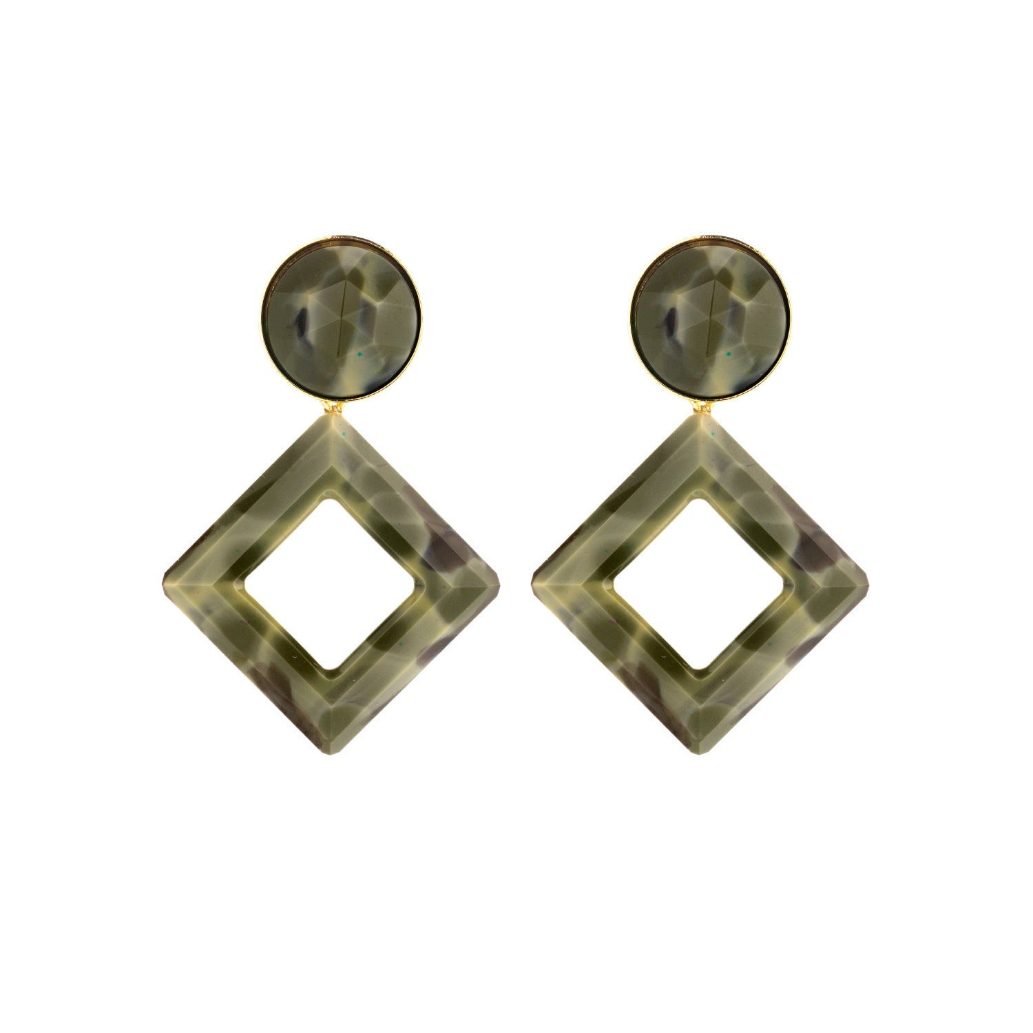 Jacky kaki earrings