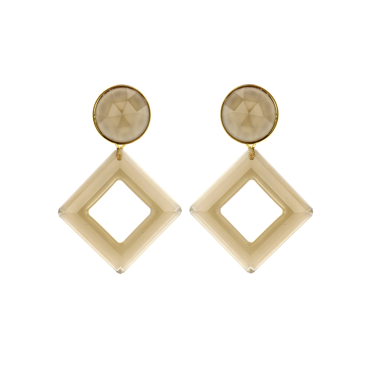 Jacky light taupe earrings