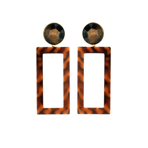 Mary large brown mix earring