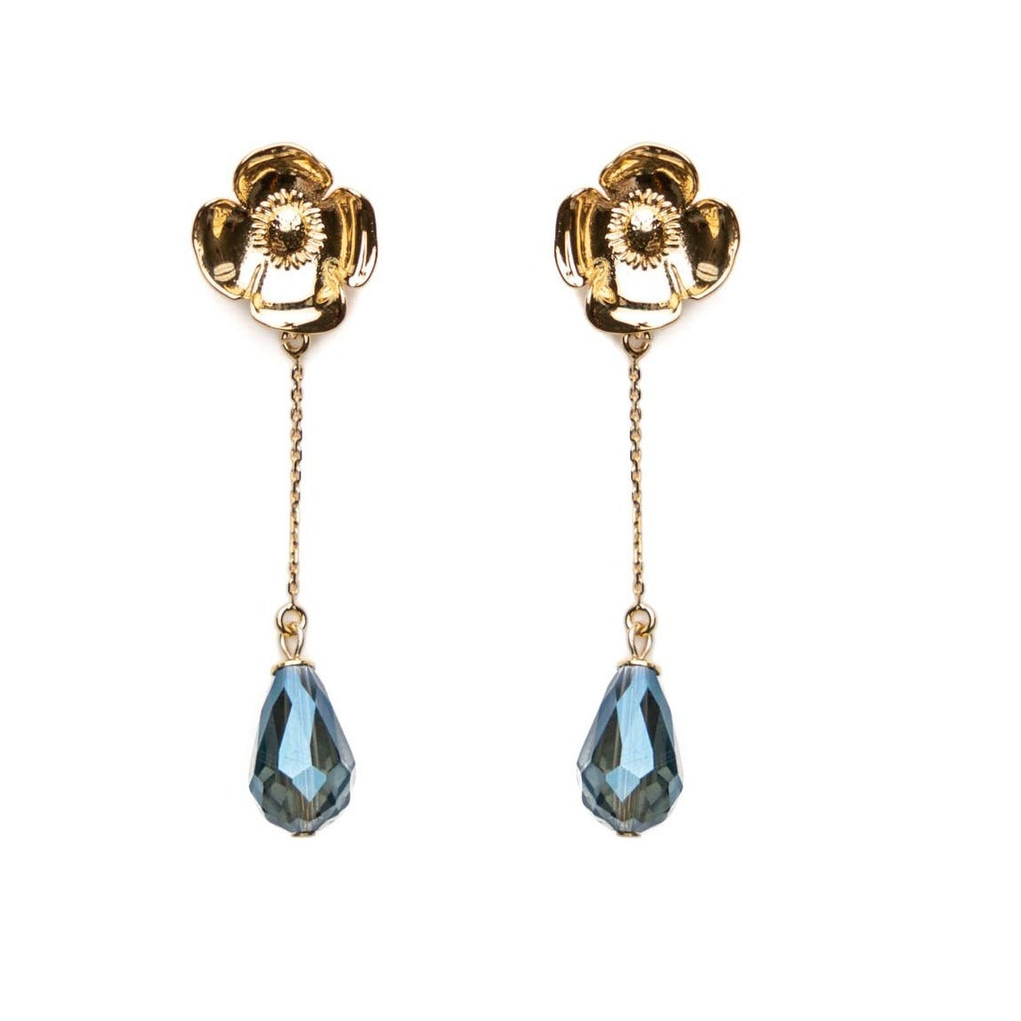 Selma long jeans earrings