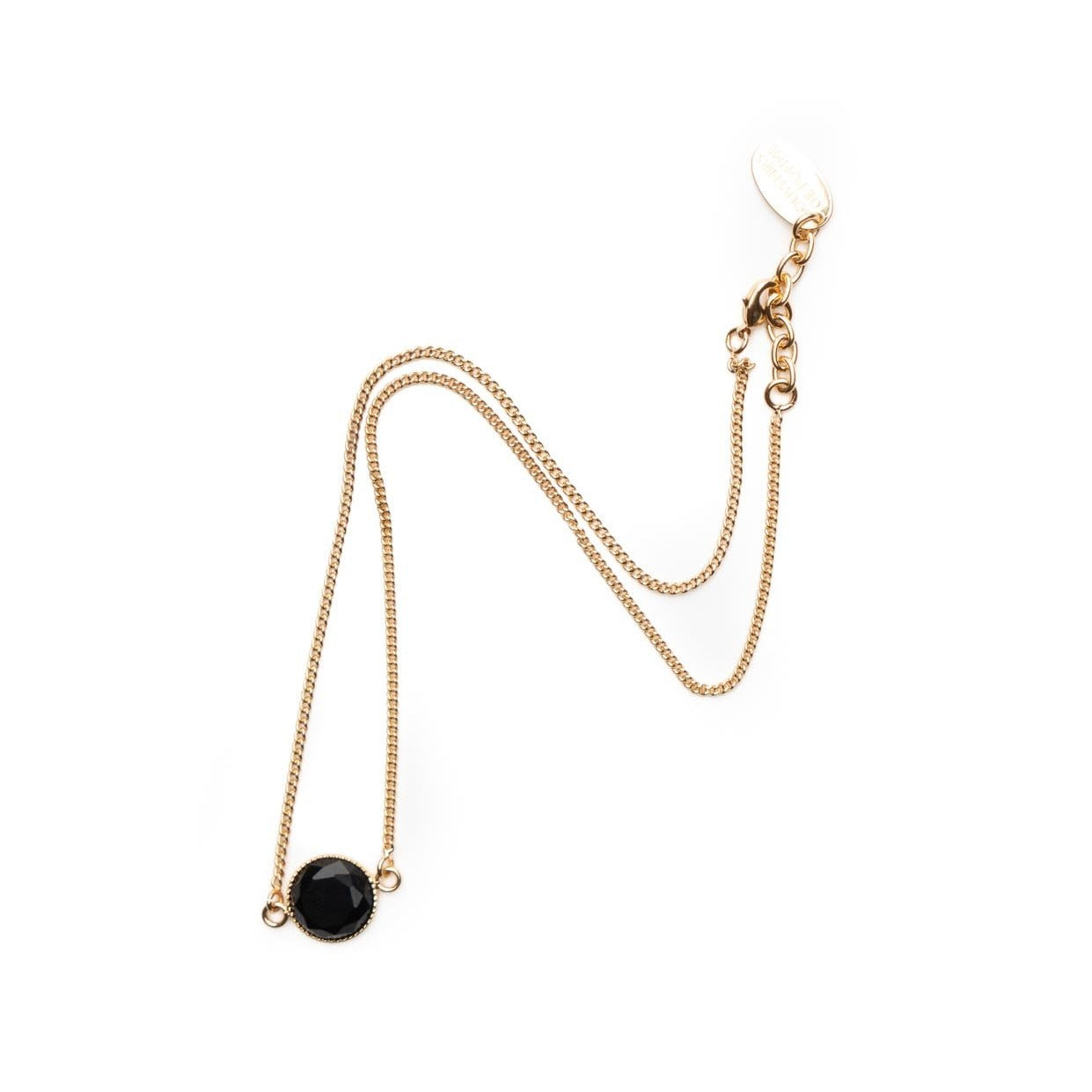 Rosi black stone alone necklace