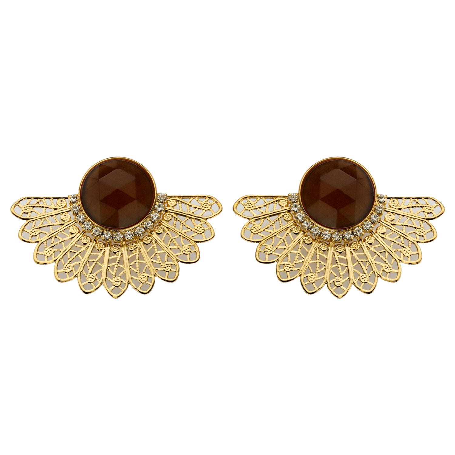 Van shortie cognac earrings