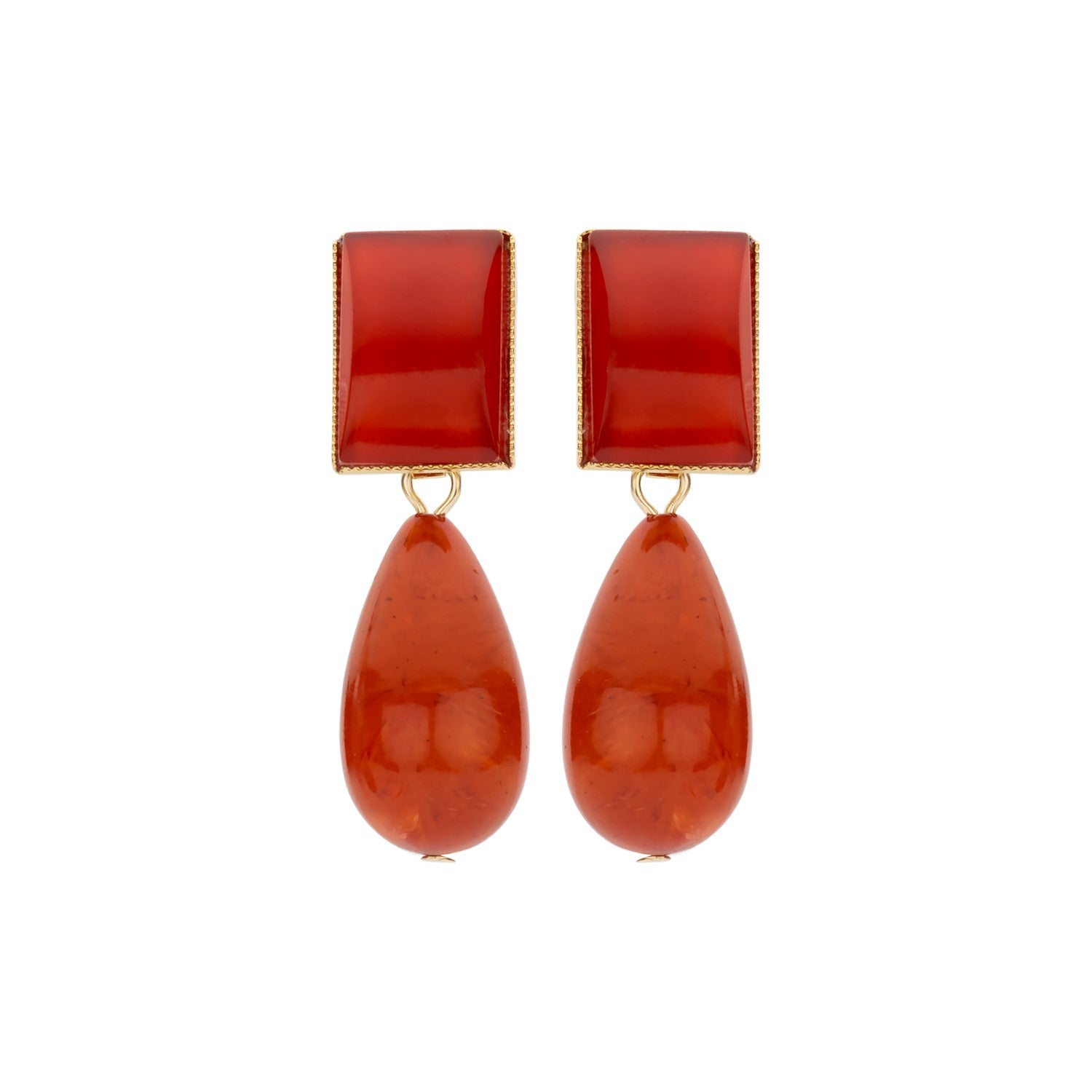 New Playa red terracota earrings - Souvenirs de Pomme