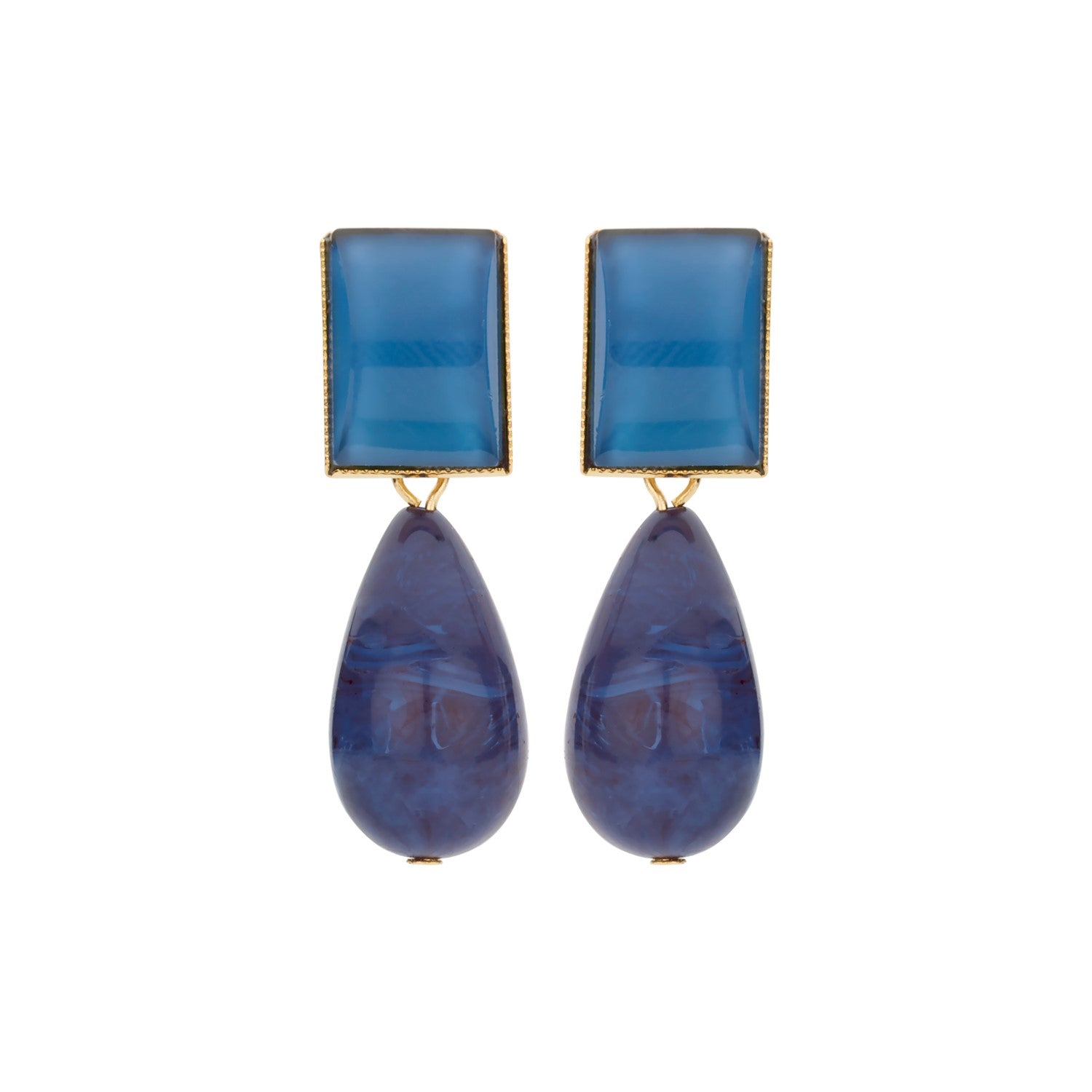 New Playa blue earrings - Souvenirs de Pomme