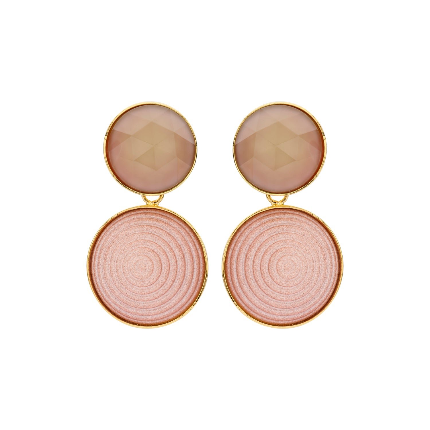 Lines Caro old rose earrings - Souvenirs de Pomme