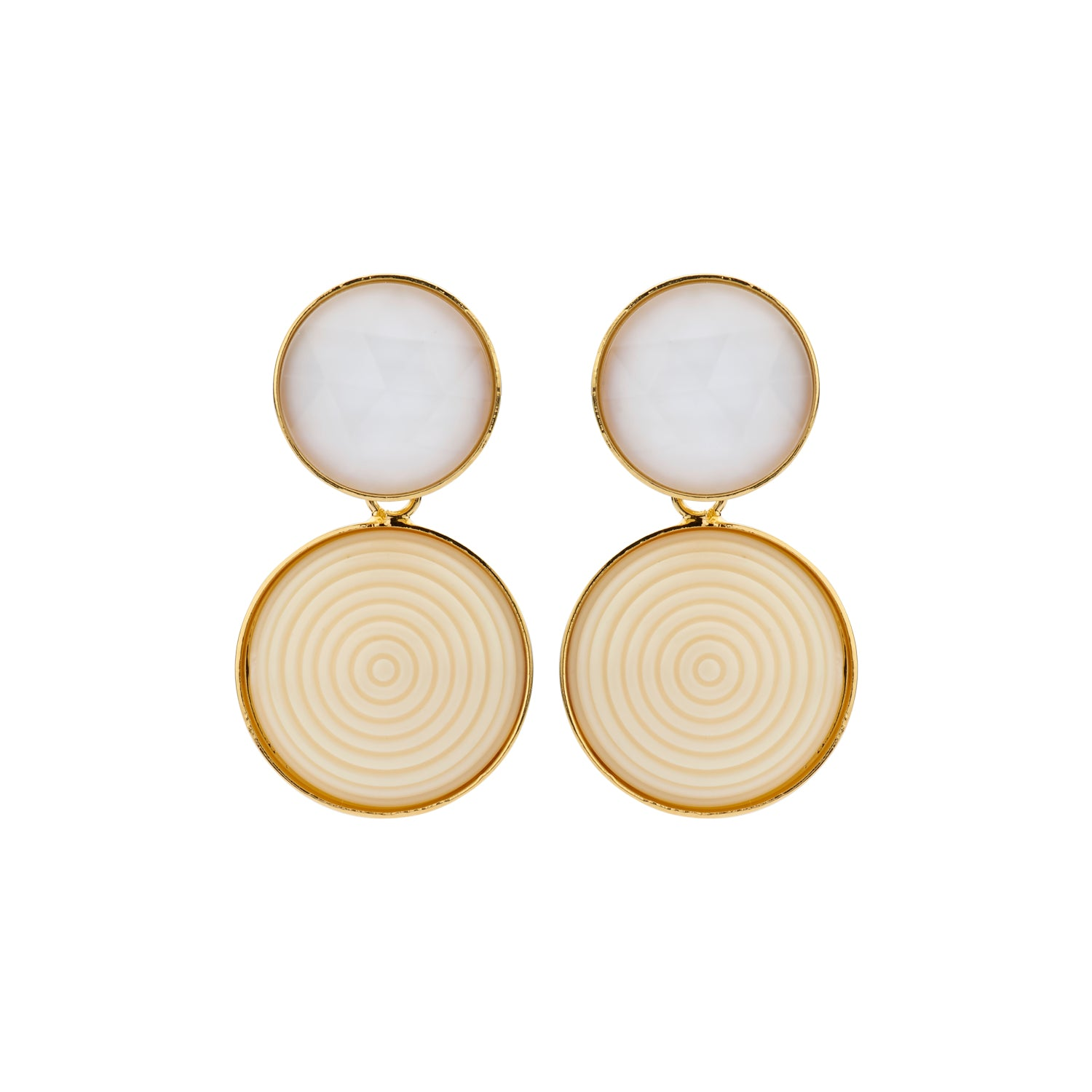 Lines Caro ivory earrings - Souvenirs de Pomme