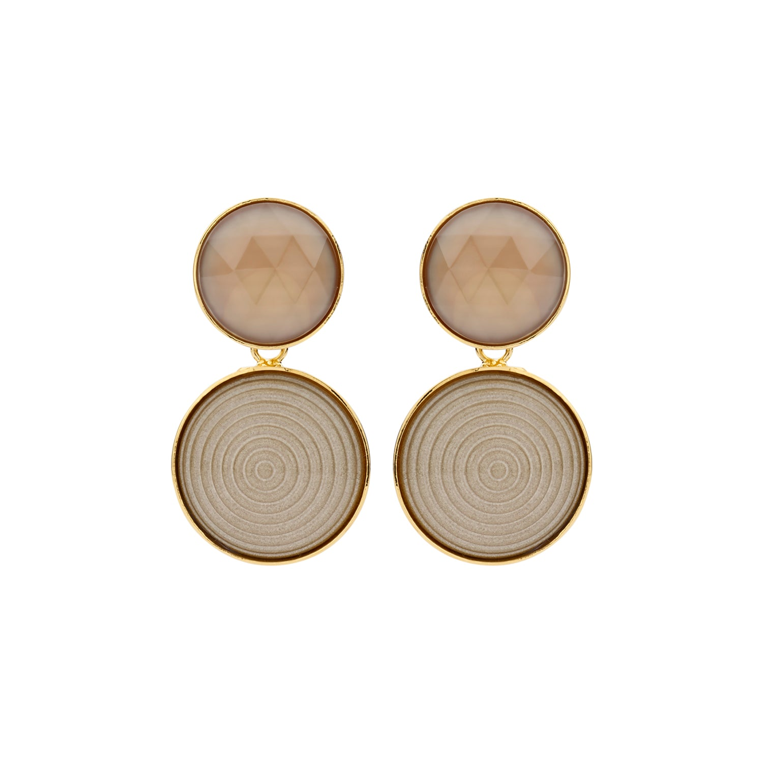 Lines Caro  beige earrings - Souvenirs de Pomme
