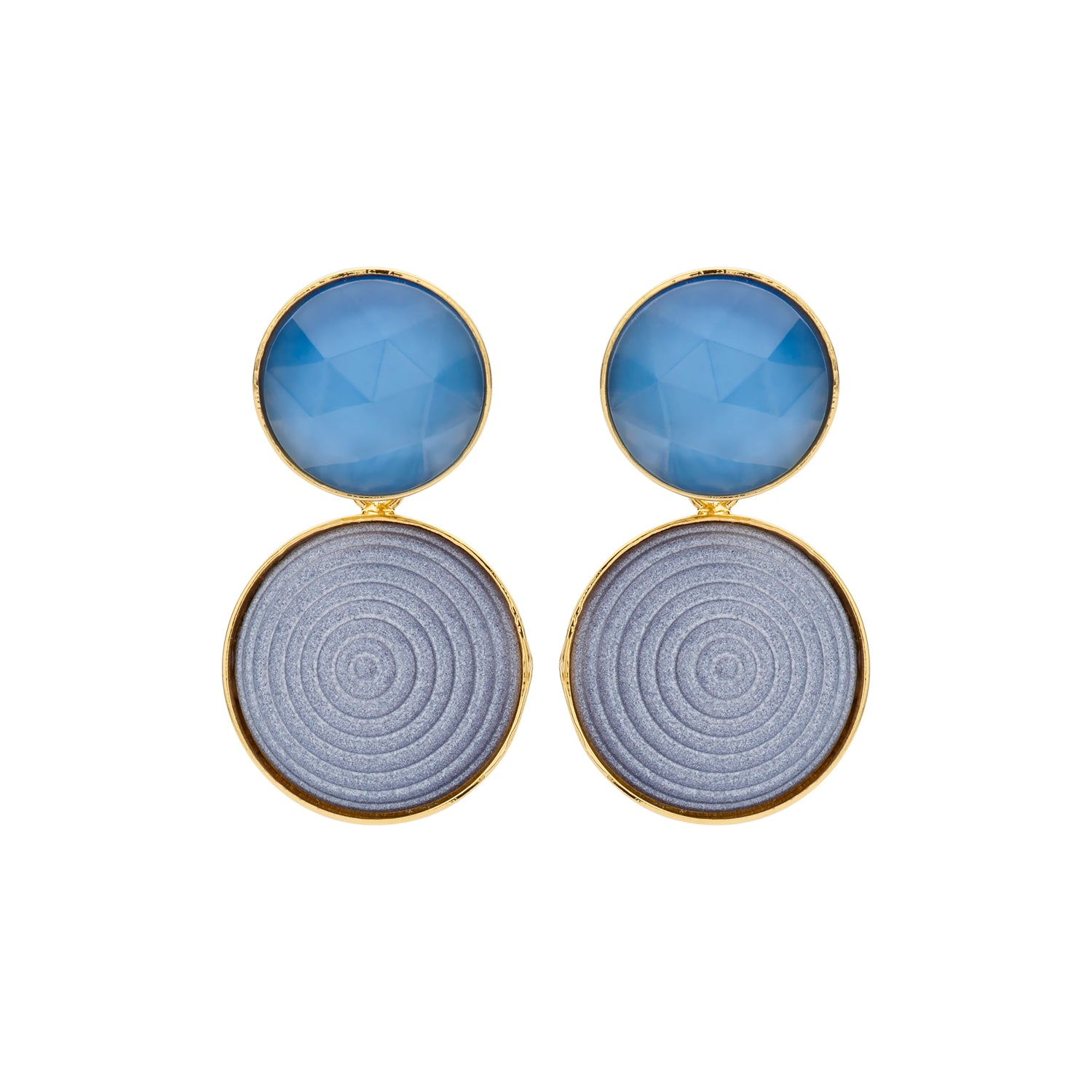 Lines Caro jeans earrings - Souvenirs de Pomme