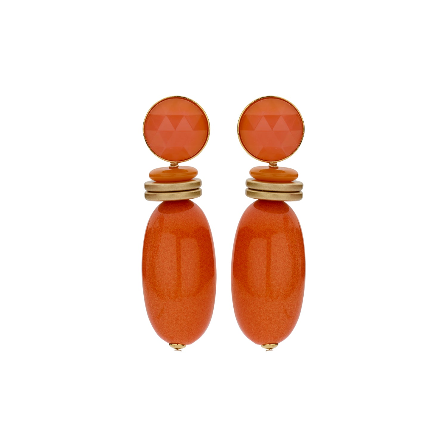 Nanou bold orange earrings - Souvenirs de Pomme