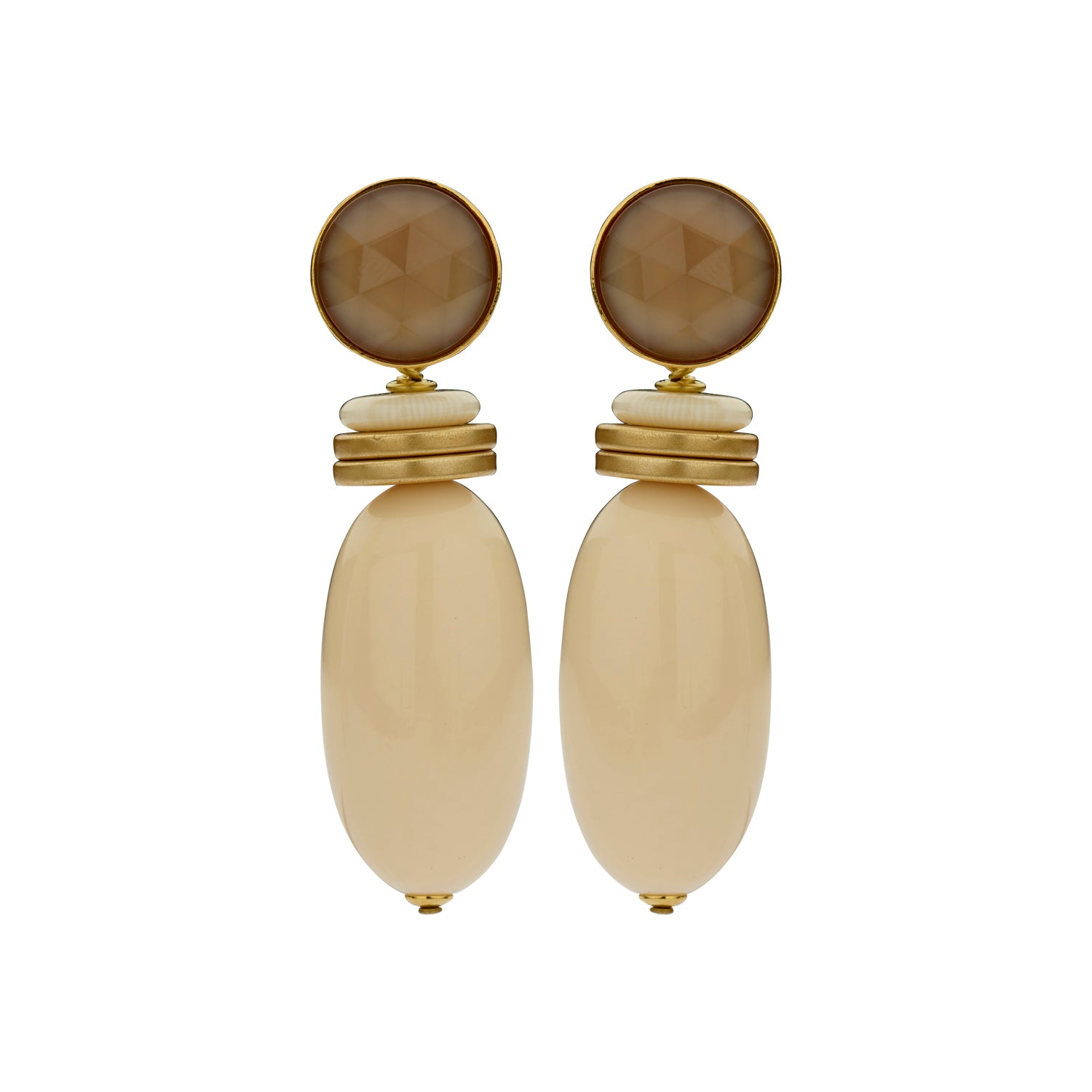 Nanou bold ivory earrings - Souvenirs de Pomme
