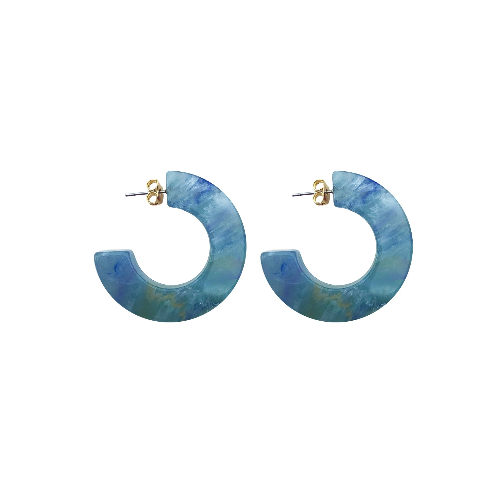 Hanna hoop small earring blue