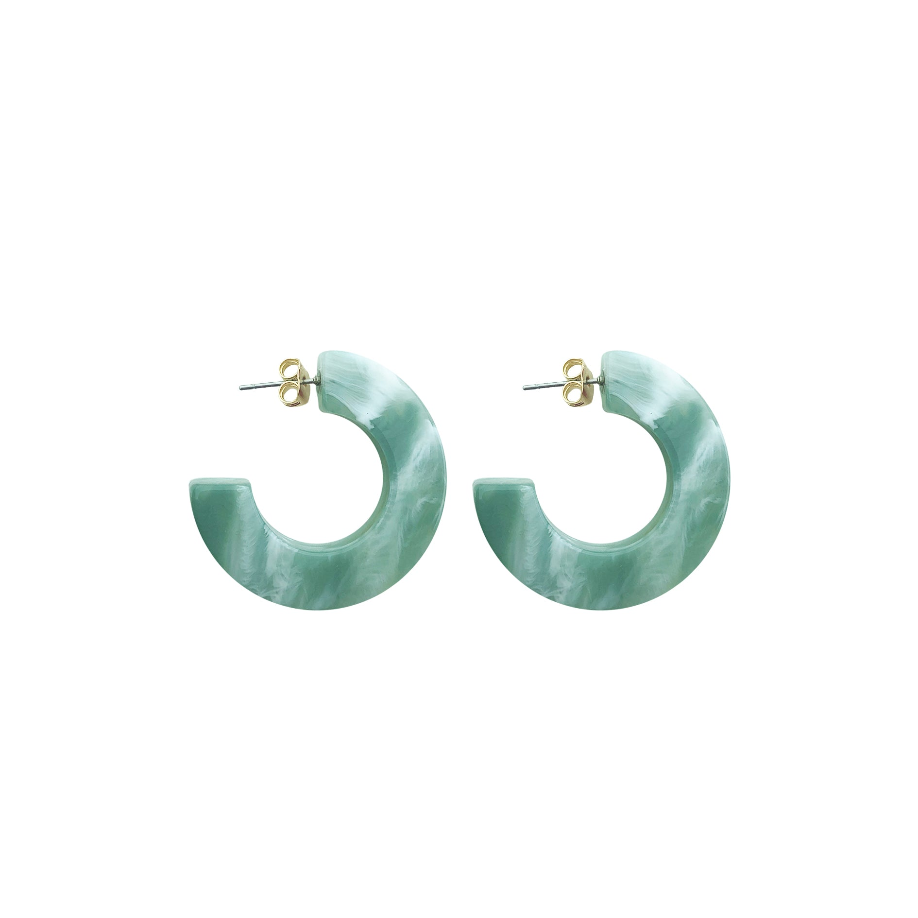 Hanna hoop small earring mint