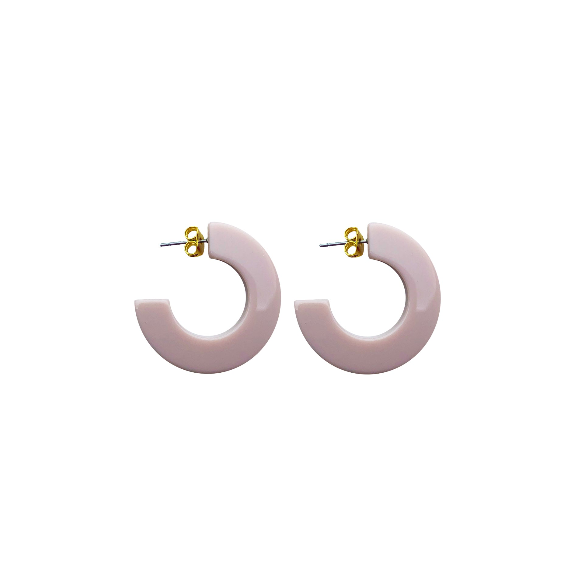 Hanna hoop small earring rose