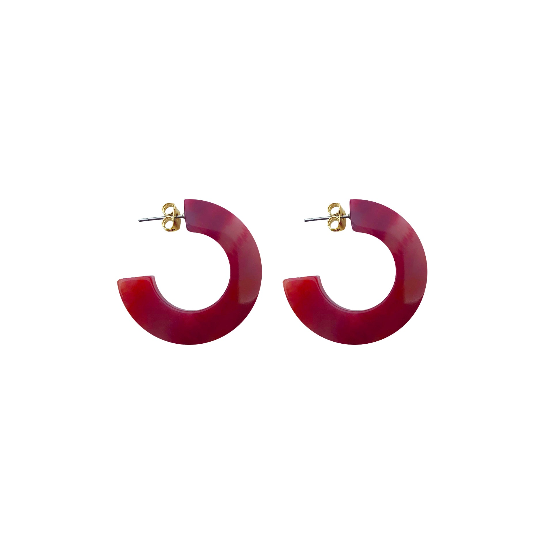 Hanna hoop small earring red