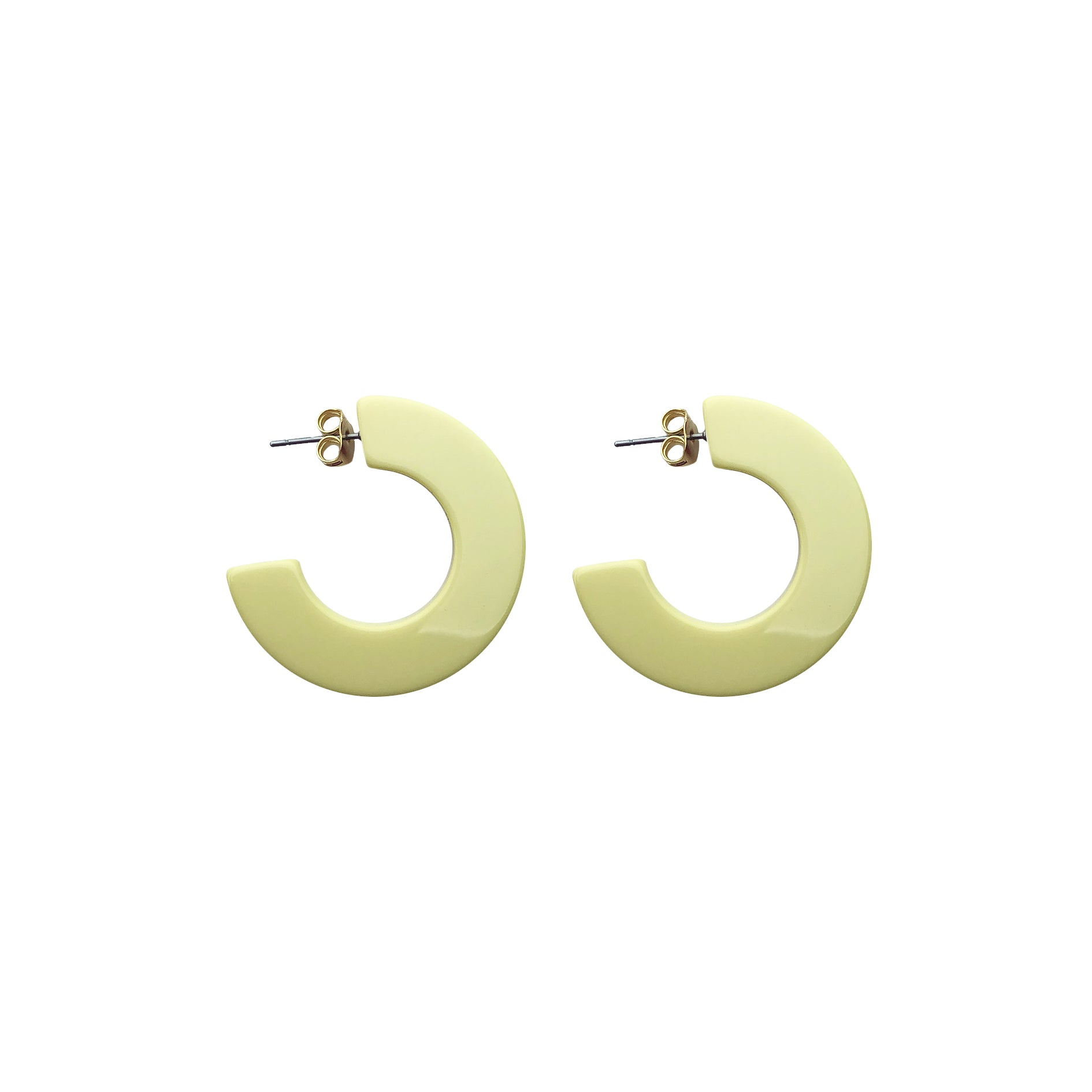 Hanna hoop small earring yellow