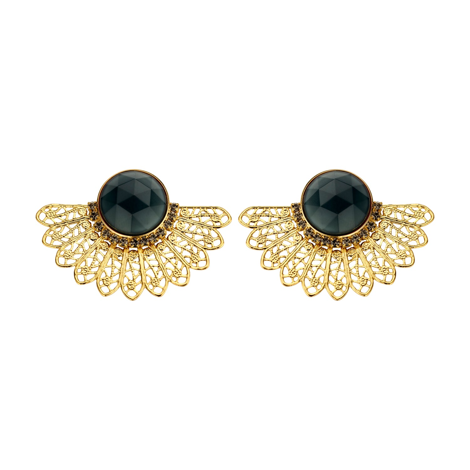 Van shortie navy earrings
