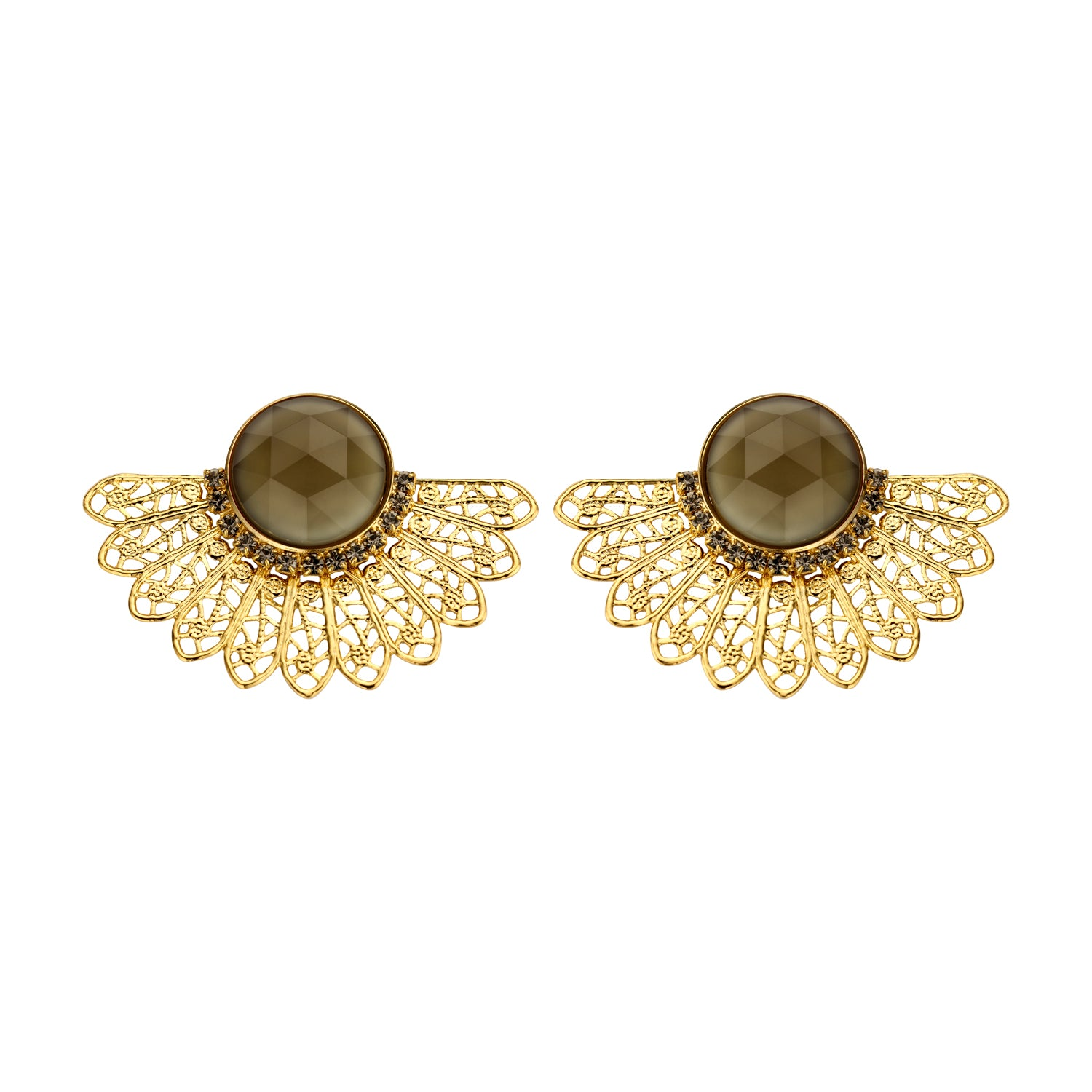 Van shortie kaki earrings
