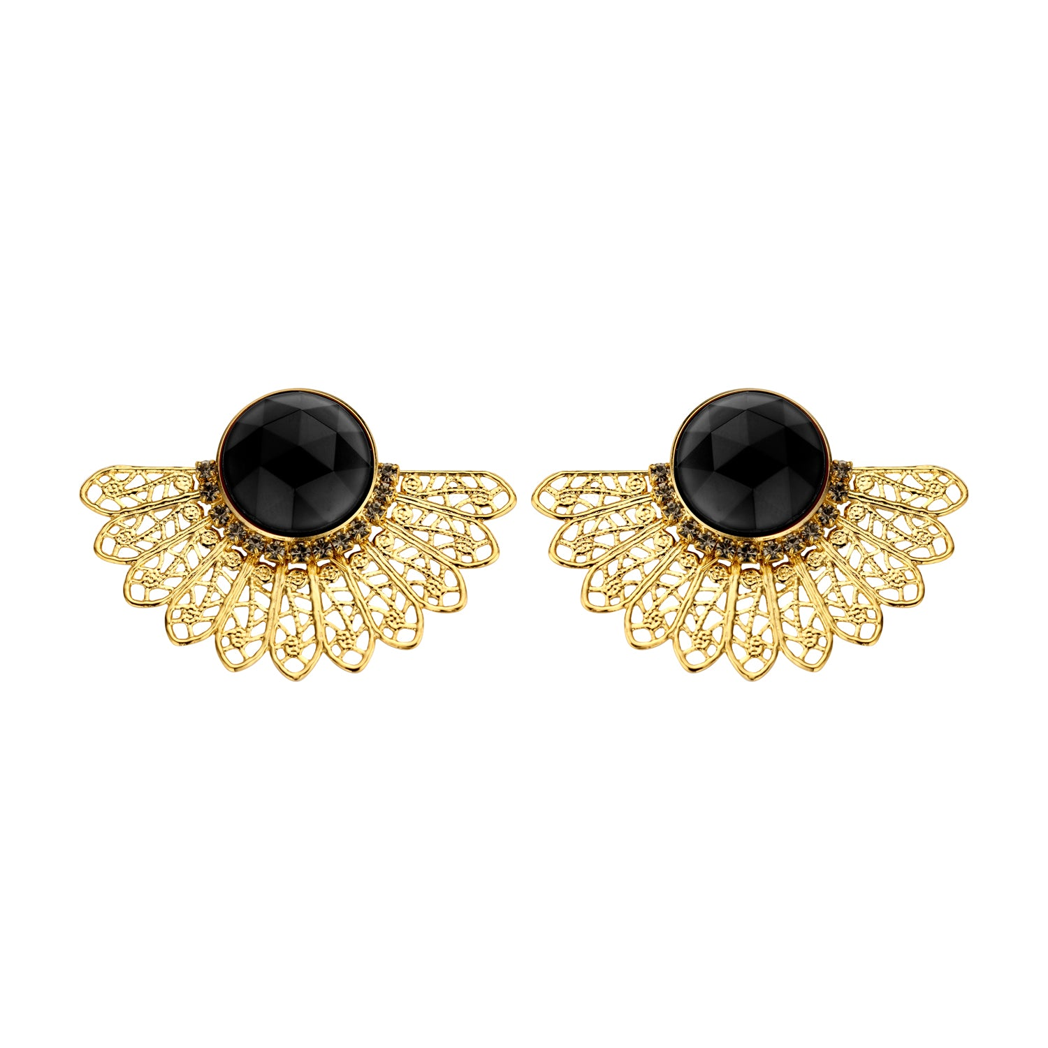 Van shortie black earrings