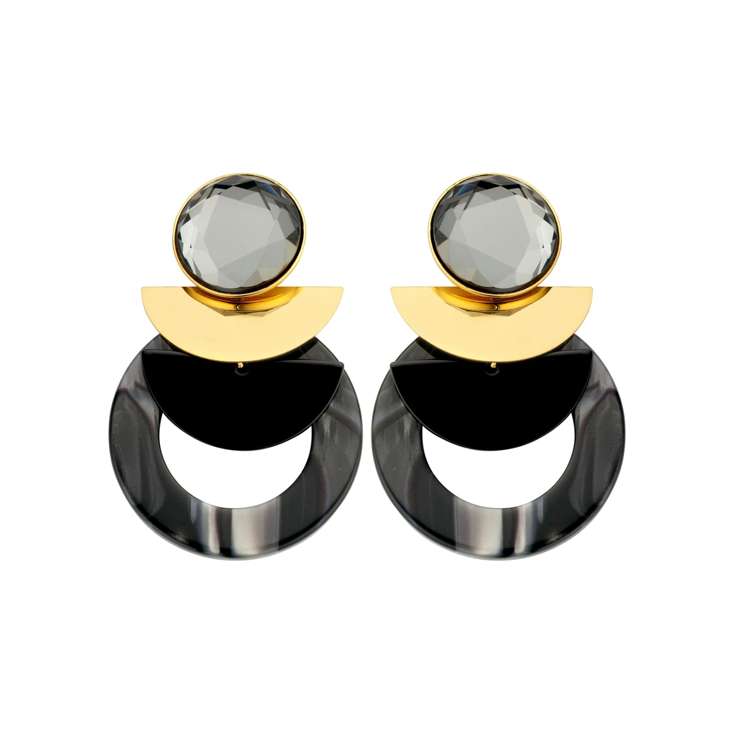Sonia statement anthracite earrings