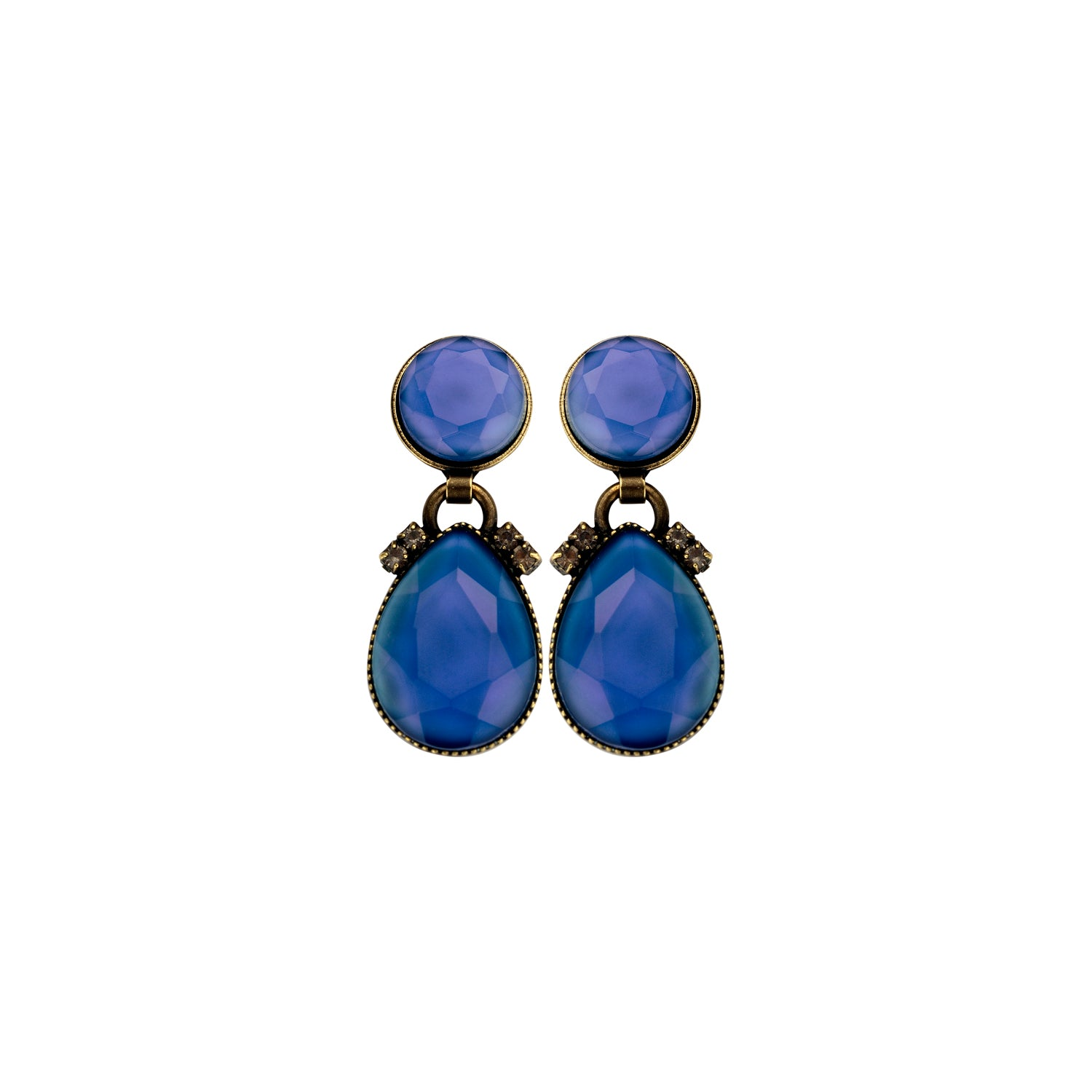 2 mini drops jeans earrings