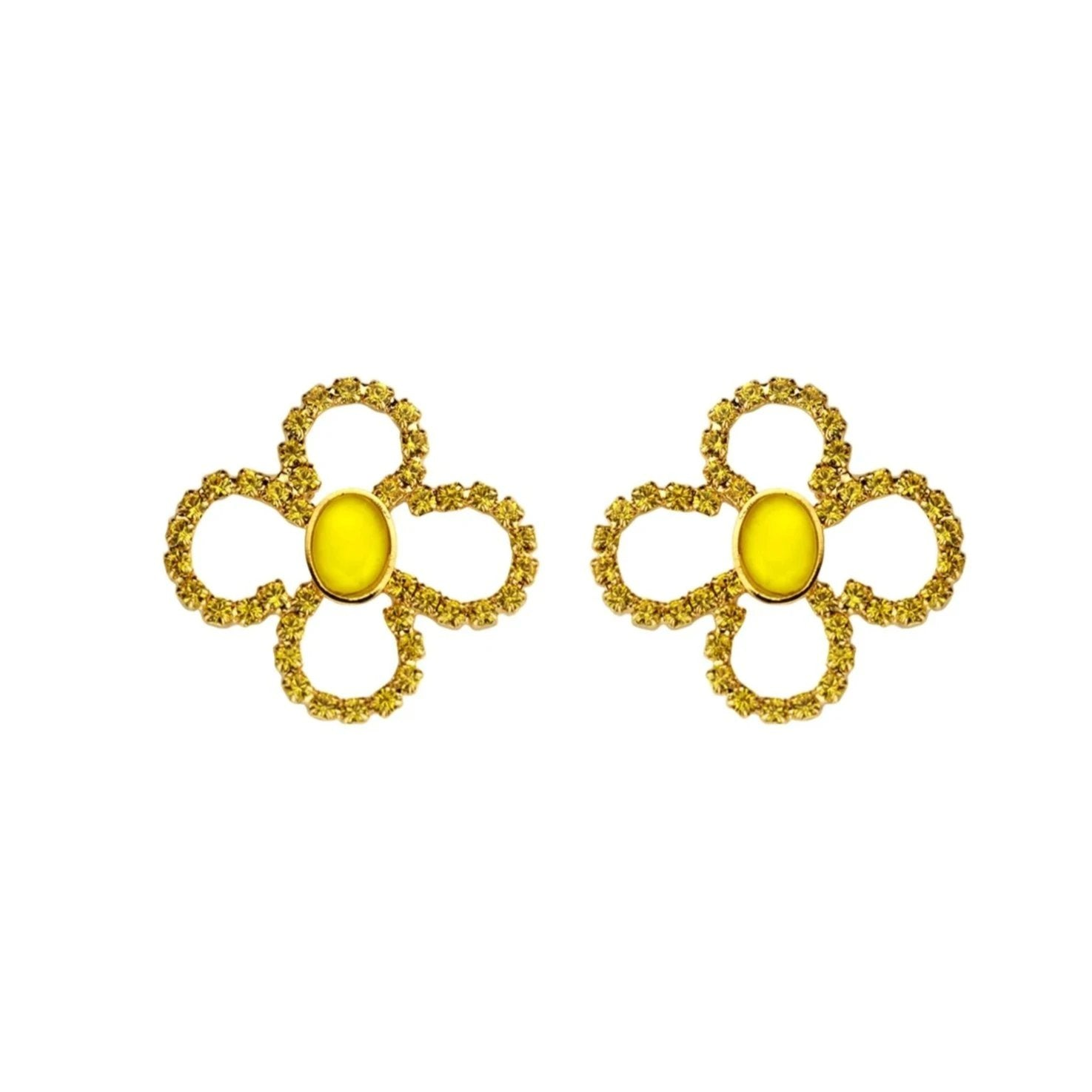 Lola light yellow earrings - Souvenirs de Pomme
