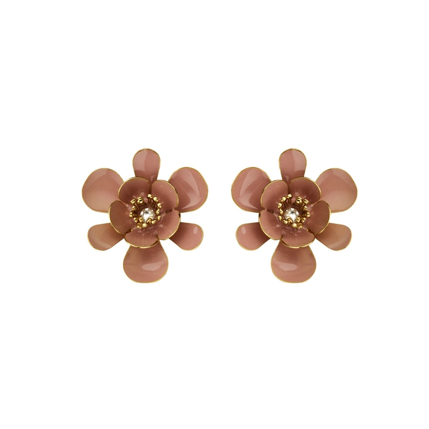 Gina shortie large old rose nude earrings - Souvenirs de Pomme