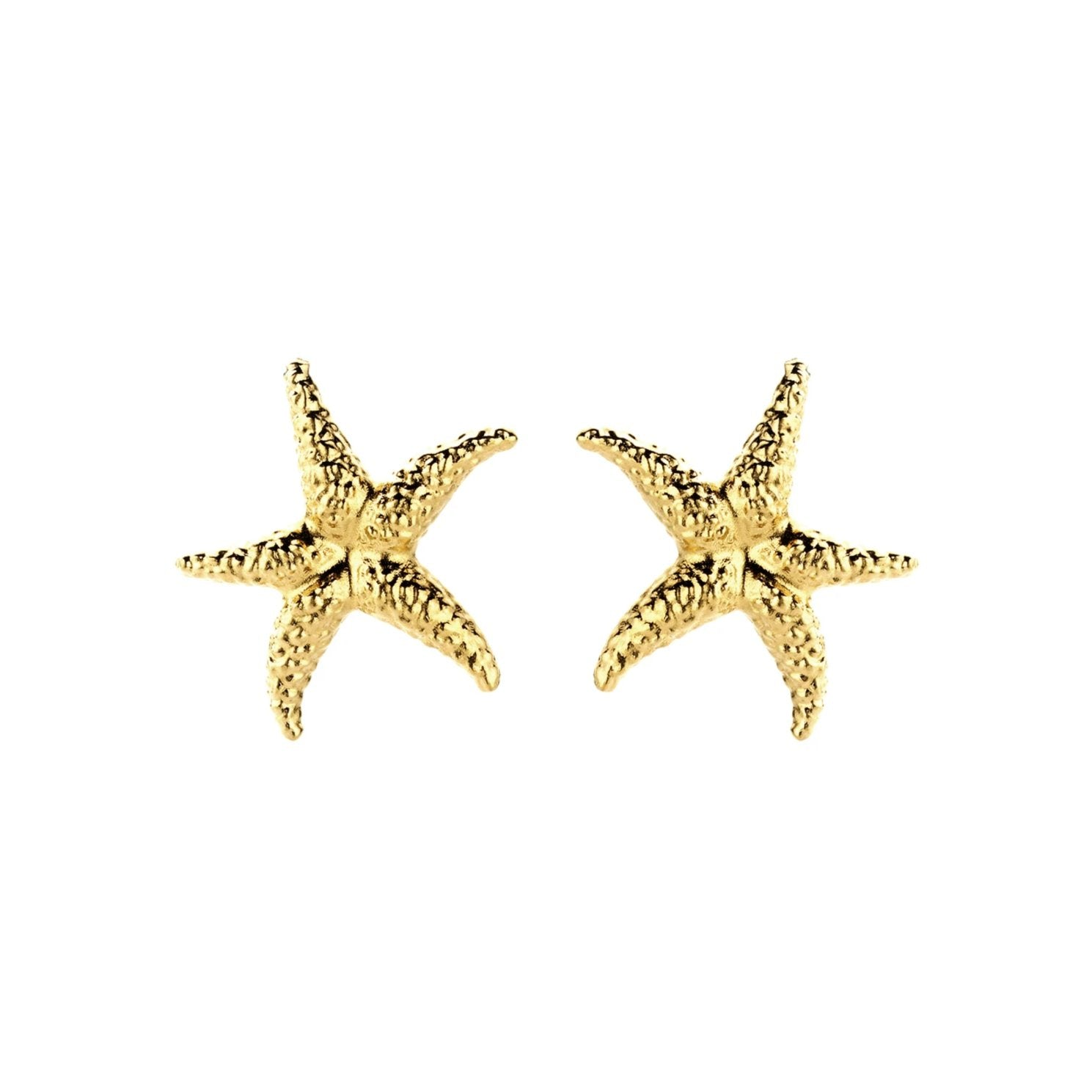 Seastar gold earrings - Souvenirs de Pomme
