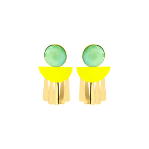 Moonlight fluo yellow earrings - Souvenirs de Pomme