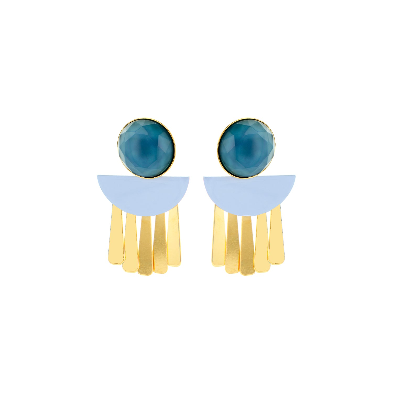Moonlight jeans earrings - Souvenirs de Pomme