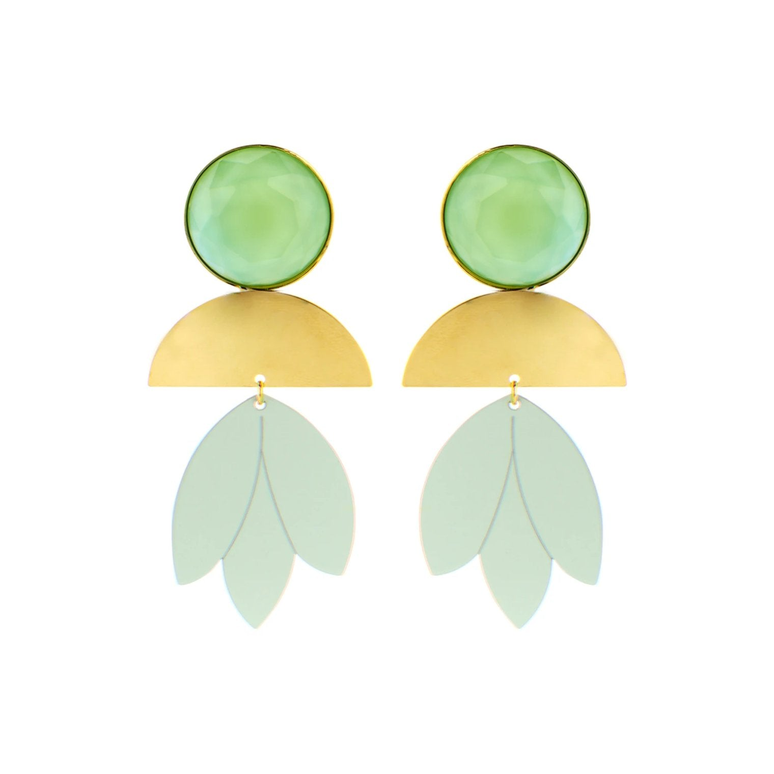 Pomme eucalyptus earrings