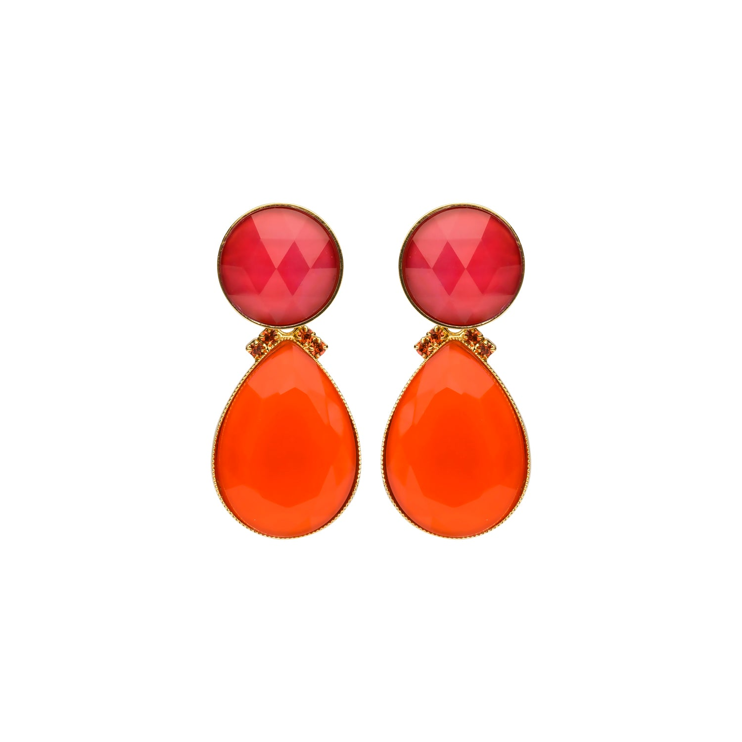 2 drops earring coral