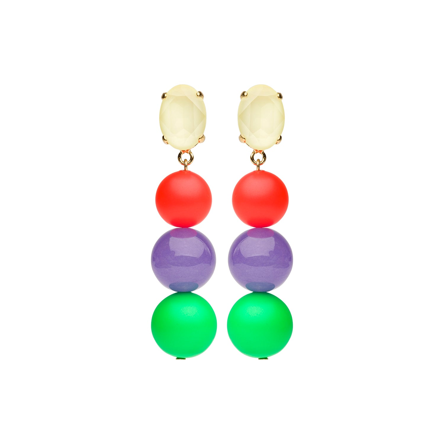 Neon earring green