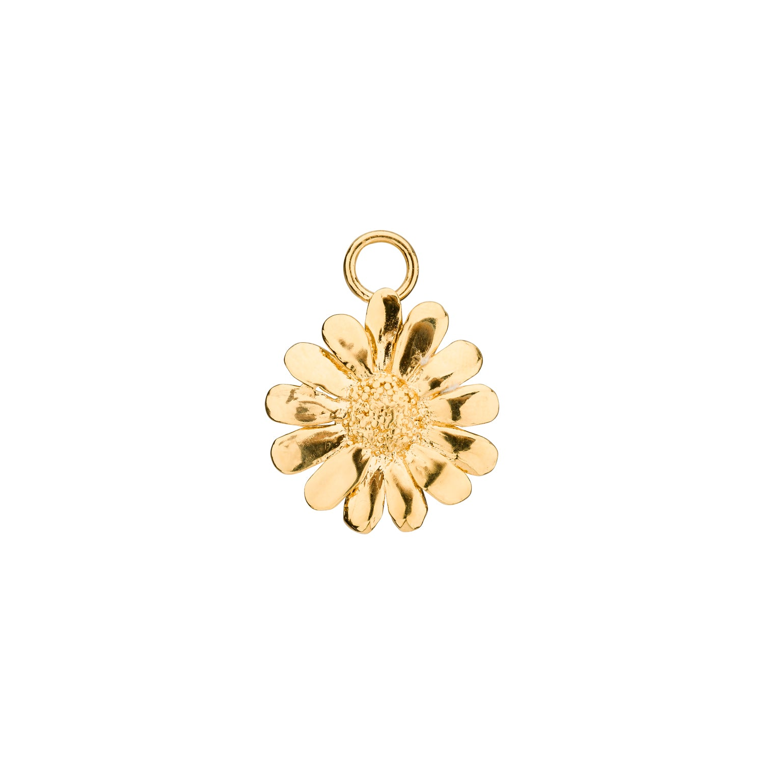 Sunflower charm gold