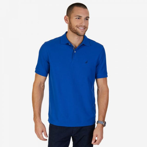NAUTICA SHORT SLEEVE BLUE SLIM FIT PERFORMANCE DECK POLO