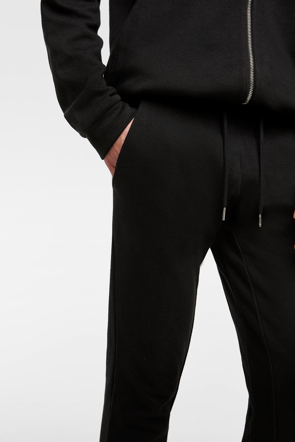 ZR BLack Pique Jogging Trouser for Men