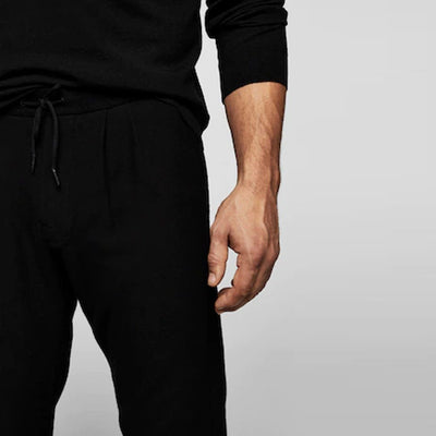 MANGO - Men Black Jogging Trouser