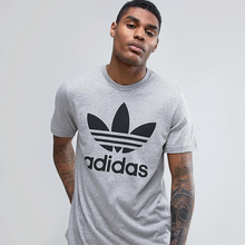 Load image into Gallery viewer, Adidas T Shirt With Trefoil Logo GREY