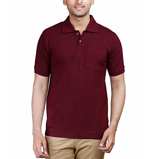 GAP - Short Sleeve Pique Burgundy Polo