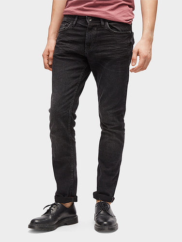 TOM T - Men's Black Slim Fit Piers Jeans
