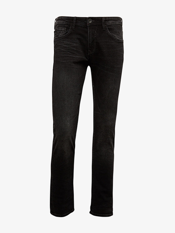 TOM TAILOR - Men's Black Slim Fit Piers Jeans