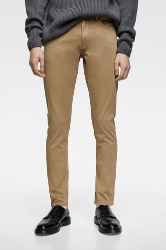 ZR - COTTON STRETCH 'SLIM FIT' CHINO (KHAKI)
