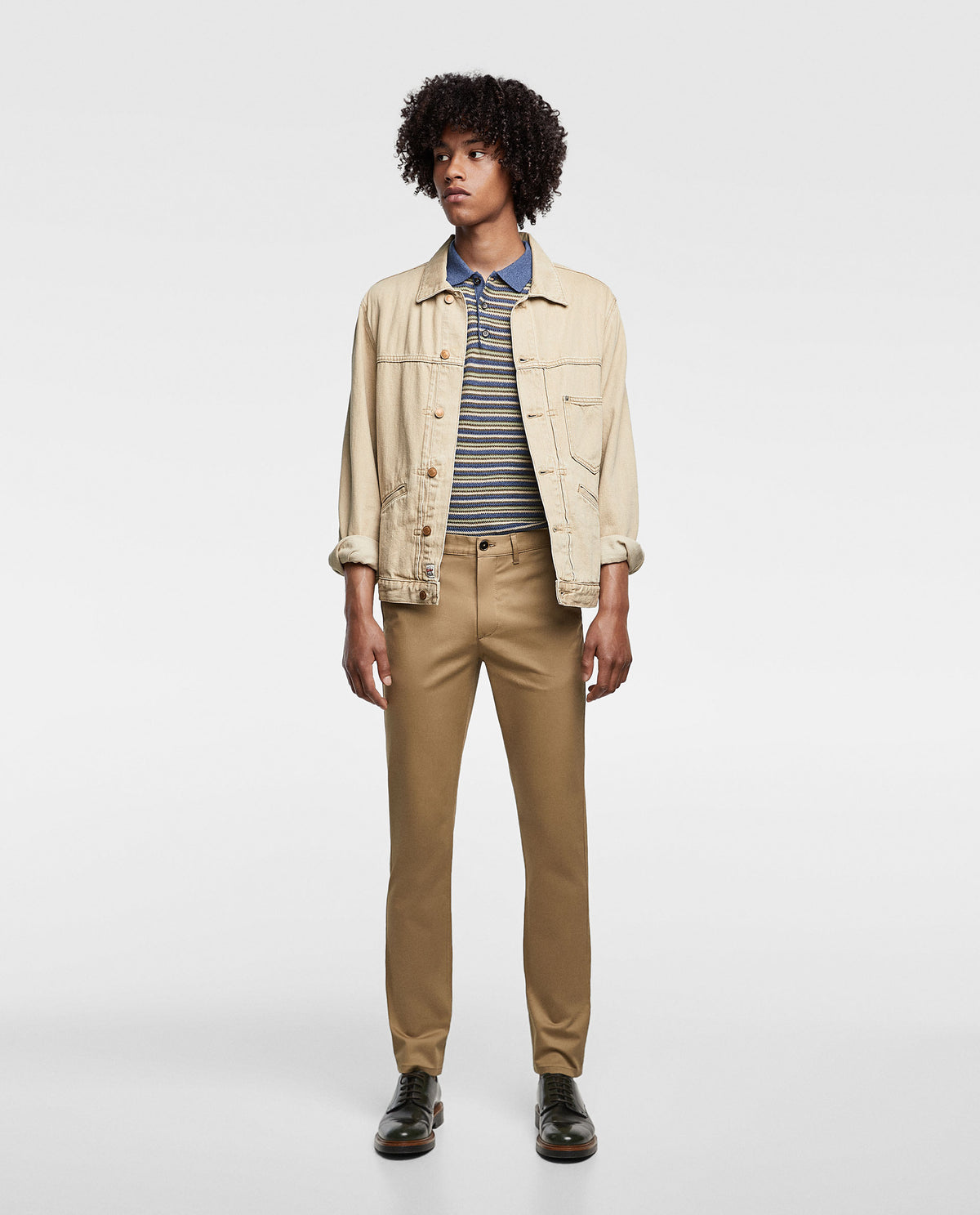 ZR - Cotton Chino 'skinny fit' Basic Collection (Camel)