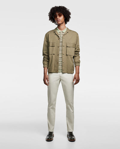 ZARA - Cotton Stretch 'skinny fit' Chino (Biege)
