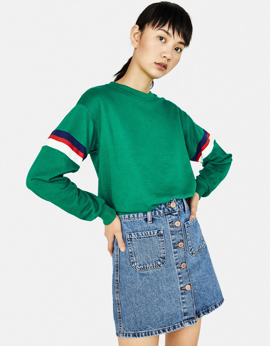 BSK - Green Crew neck Sweatshirt
